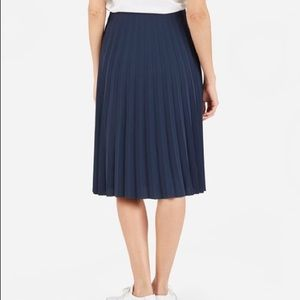 Zara Skirts - Zara Navy Pleated Skirt